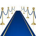 Blue carpet with guard clipping mask mesh Stock Images