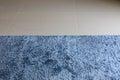Blue carpet softness texture decoration floor interior