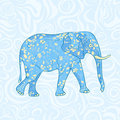 Blue Cartoon Elephant Royalty Free Stock Image