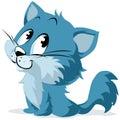 Blue Cartoon Kitten or Cat