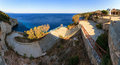 Blue caves stairs panorama beautiful view of the the to the sea at the on the island zakynthos Stock Images
