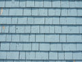 Blue Cedar Siding Royalty Free Stock Photography