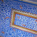 Blue ceiling at Bikaner,India. Royalty Free Stock Photo