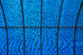 Blue ceiling detail of a with a metal framework Royalty Free Stock Photography