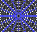 Blue Center Point Mandala Royalty Free Stock Image