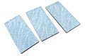 Blue ceramic tiles on white Royalty Free Stock Photography