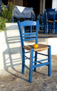 Blue chair with lemon Royalty Free Stock Photos