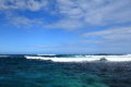 A blue charming sea with wave beautiful seaview in mauritius ocean Royalty Free Stock Photos