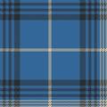 Blue check plaid tartan seamless pattern Royalty Free Stock Photo