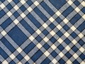 Blue checked fabric abstract Royalty Free Stock Photography