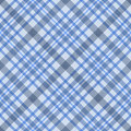 Blue checked fabric seamless pattern Stock Photos