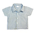 Blue checkered boy shirt Royalty Free Stock Images
