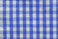 Blue checkered fabric Royalty Free Stock Photo