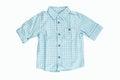 Blue checkered shirt Royalty Free Stock Photo