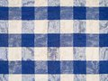 Blue checkered tablecloth photo of a Royalty Free Stock Photos