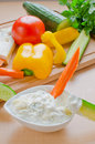 Blue cheese dip Stock Photography