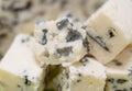 Blue cheese macro Royalty Free Stock Photo