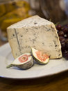 Blue cheese plate with selective focus Royalty Free Stock Photo
