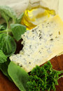 Blue Cheese And Salad Stock Photo