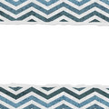 Blue chevron torn background for your message or invitation with copy space in the middle Royalty Free Stock Photo