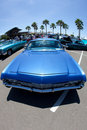 Blue Chevy Impala Lowrider Royalty Free Stock Photo