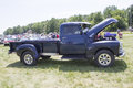 Blue chevy truck side view iola wi july of at iola st annual car show july in iola wisconsin Royalty Free Stock Image