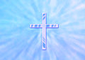 Blue Christian Cross Stock Photography