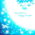 Blue christmas background. Royalty Free Stock Images