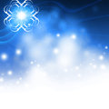 Blue christmas background bokeh beautiful Stock Photography