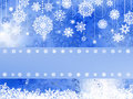 Blue christmas background with snowflake. EPS 8 Royalty Free Stock Images