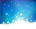 Blue christmas background snowflake for winter season Stock Photos