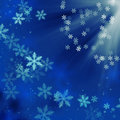Blue christmas background with snowflakes Royalty Free Stock Photo