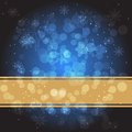 Blue christmas background a with snowflakes Royalty Free Stock Photo