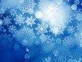 Blue christmas background with snowflakes eps vector file included Stock Photography
