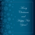 Blue christmas background with snowflakes and a wish Royalty Free Stock Image