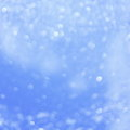 Blue christmas background stock photos lights blurred white dots wallpaper Royalty Free Stock Photo