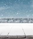 Blue Christmas background with trees and snow Royalty Free Stock Photo