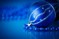 Blue christmas ball on a background Royalty Free Stock Photography