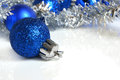 Blue christmas balls Stock Photo