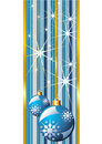 Blue christmas banner Stock Photography