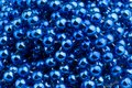 Blue Christmas beads Royalty Free Stock Images