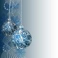 Modrý vianočný pozdrav