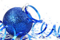 Blue christmas decoration Stock Photo