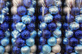Blue Christmas decoration balls Royalty Free Stock Image