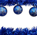 Blue Christmas Decorations Stock Image