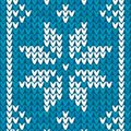 Blue Christmas embroidery vector background Stock Photo