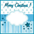 Blue Christmas greeting Royalty Free Stock Image