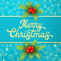 Blue Christmas Greeting Card W...