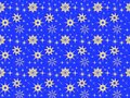 Blue Christmas and New Year seamless pattern with golden snowflakes Royalty Free Stock Photo