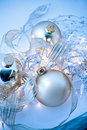 Blue Christmas Ornaments Abstract Royalty Free Stock Image